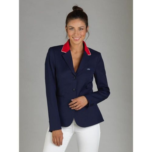 GPA NASKA Ladies Equestrian Show Jacket - Navy with Red Collar (Price £249.
