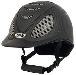 GPA Speed' Air Matt Carbon Prestige Riding Helmet -  Grey Leather