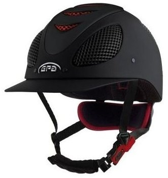 GPA New Generation EVO + Tone On Tone Riding Helmet - Black With Red Grill