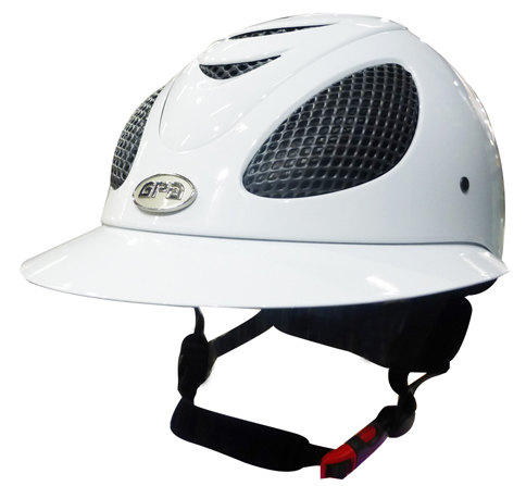 GPA Speed' Air Polo Riding Helmet - White Shiny (£390 Exc VAT & £468 Inc VA