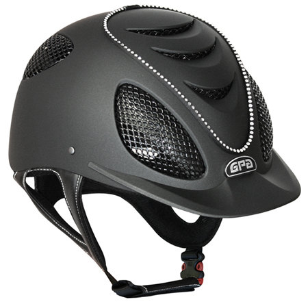 GPA Speed Air Swarovski Crystal Riding Helmet - Black With Crystals (£399.0