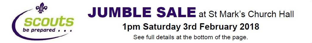 Scout Jumble Sale 3rd February 2018