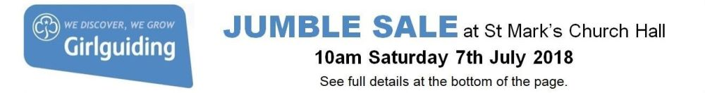 Guide Jumble Sale - 07.07.18
