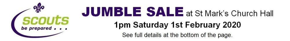 Scout Jumble Sale - 01.02.20