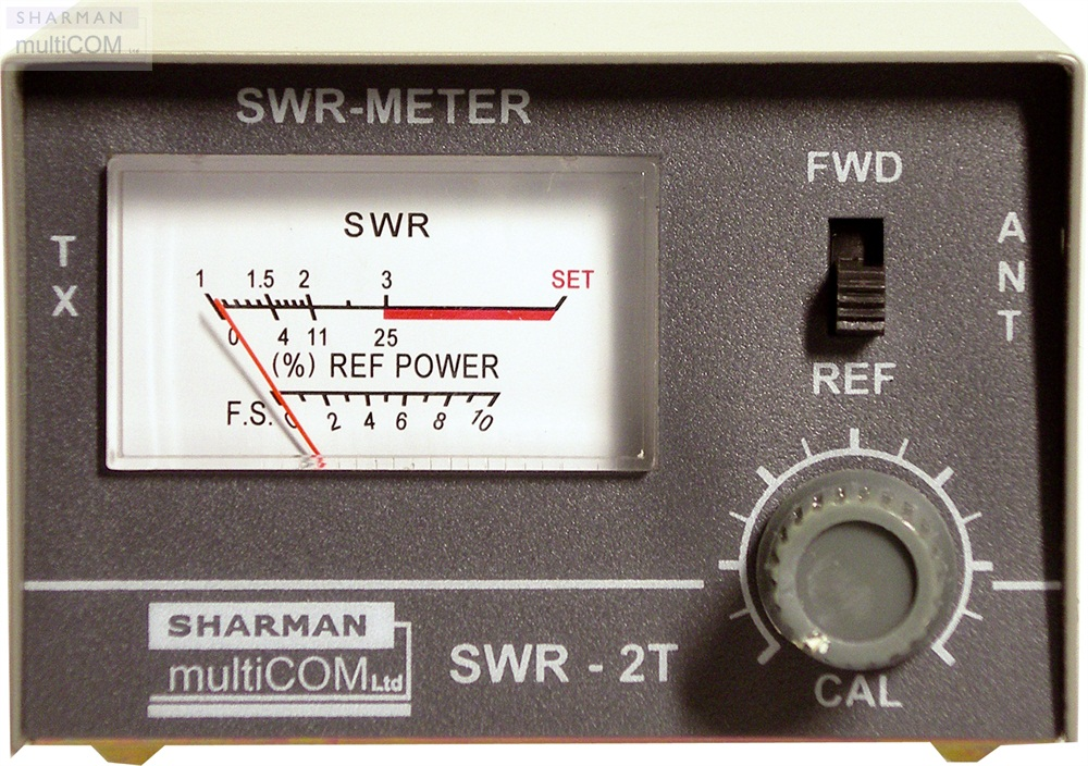 SHARMAN'S SWR-2T METAL CABINET SWR METER