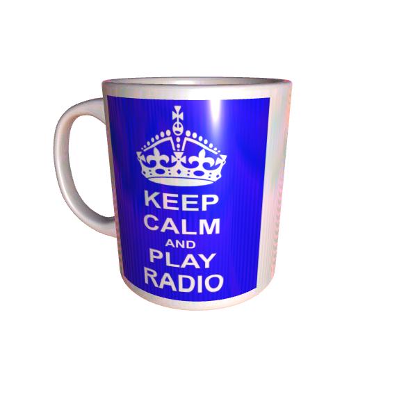 Keep Calm And Play Radio Mug
