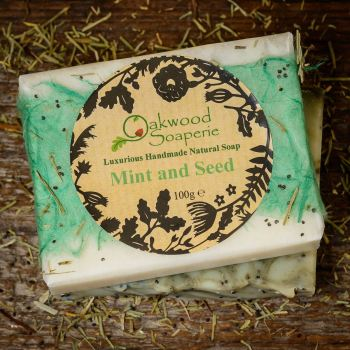 Mint & Seed soap with Peppermint & Rosemary oils