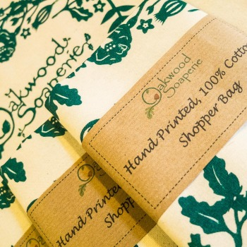 Hand printed 100% Cotton shopping bags
