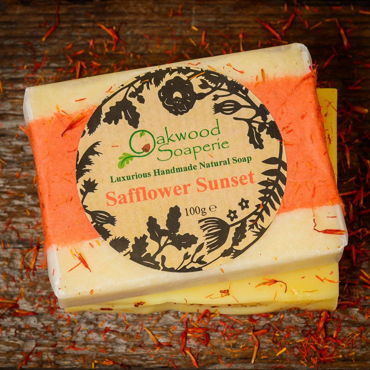 SALE - Safflower Sunset Handmade soap WAS £4.50, NOW £3.00