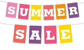 Summer SALE on NOW, up to 50% off while stocks last.