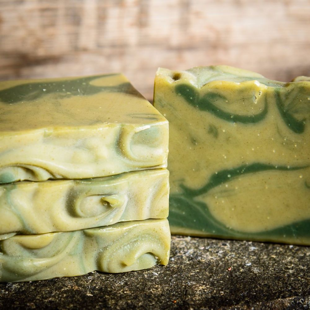 SALE - Limechouli and Nettle leaf Handmade soap