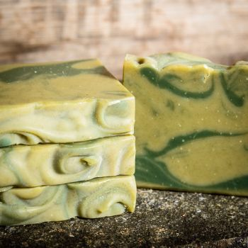 SALE - Limechouli and Nettle leaf Handmade soap - REDUCED TO CLEAR