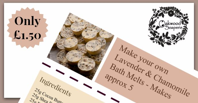 Make Your Own Lavender & Chamomile Bath Melts