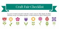 Craft Fair Checklist