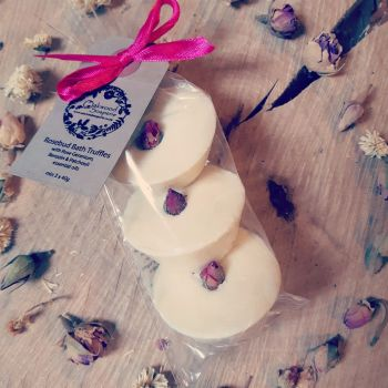 Rosebud Bath Truffles with Rose Geramium and Patchouli oils (bag of 3)