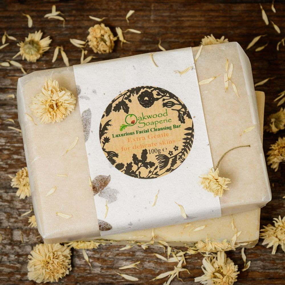 Extra Gentle, chamomile & Goat's milk Facial Cleansing Bar