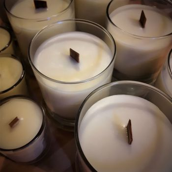 Natural, hand poured eco-soy wax candles