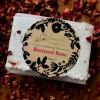 Buttered Rose Handmade Soap in Wildflower seed paper wrap