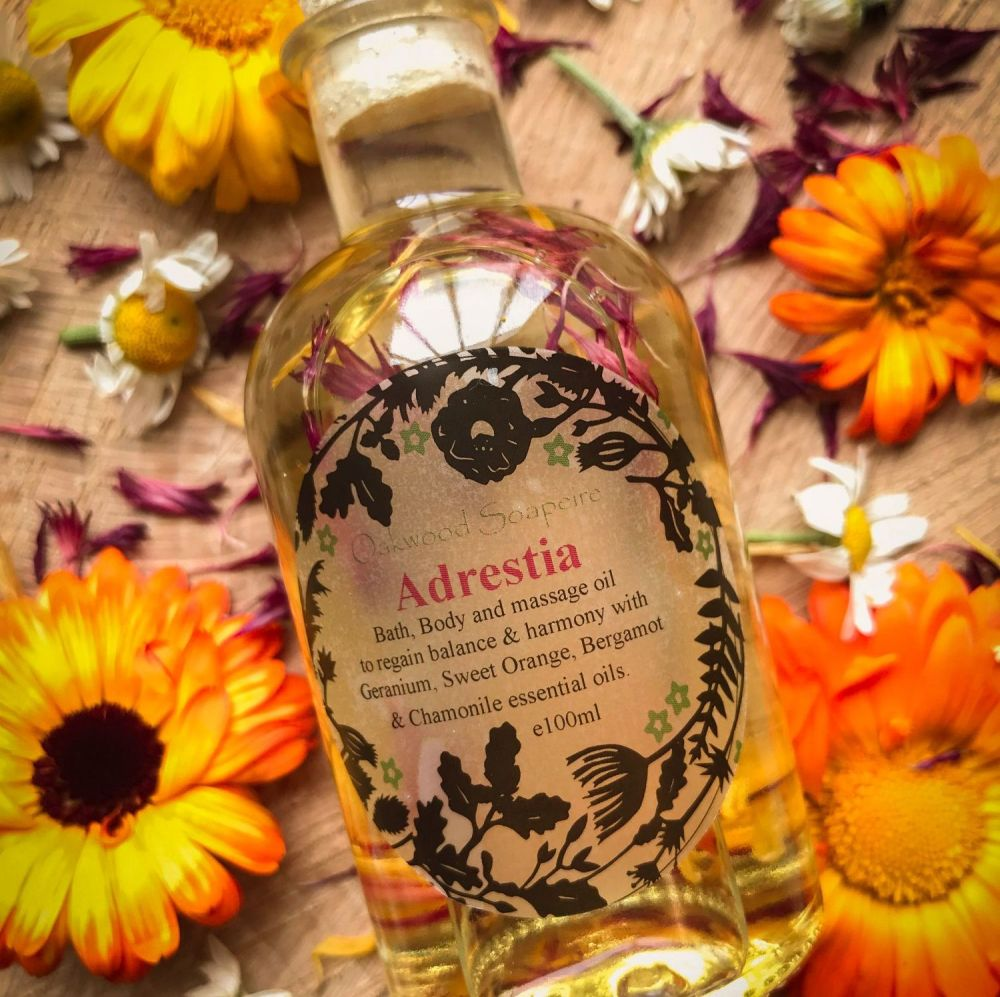 Adrestia Bath & Body Oil with balancing and harmonising essential oils