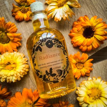 Radiance Bath & Body Oil with cheering citrus essential oils