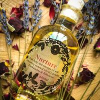 Nurture Bath & Body Oil with Comforting Lavender & Frankinsence oils.