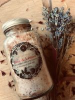 Rose and Lemon Himalayan bath salts