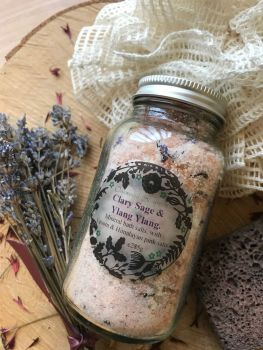 Clary Sage and Ylang ylang Himalayan bath salts