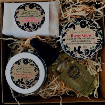 Facial Care Gift Box - Chamomile & Rose for Dry Skin