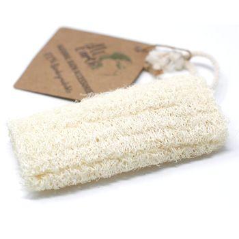 "Natural Loofah Scrub on Rope - 5"" - 12.7 cm"