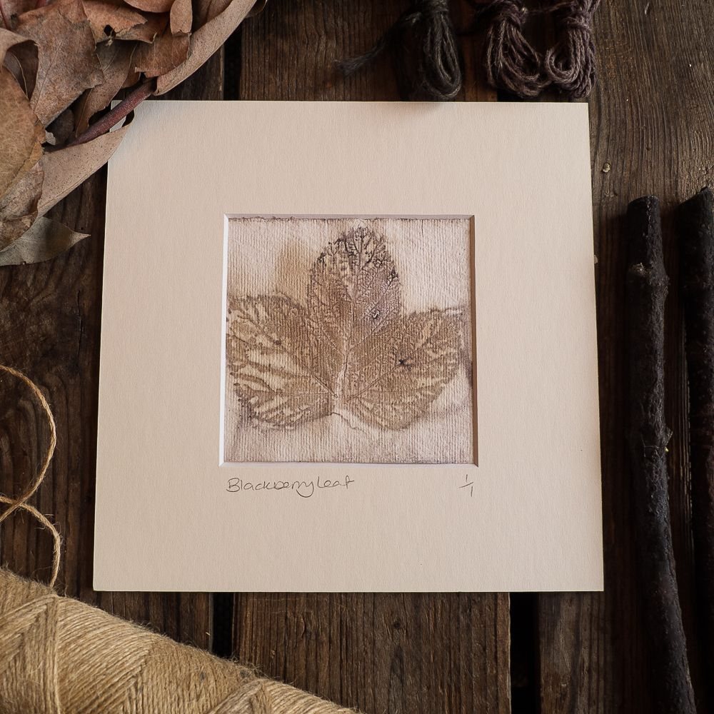 Eco - Print, mounted original prints