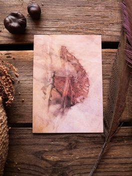 Greetings Card with eucalyptus print image