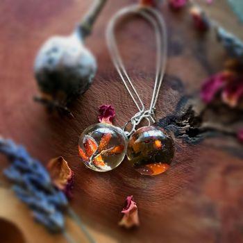 Crocosmia drop earrings with long ear wires