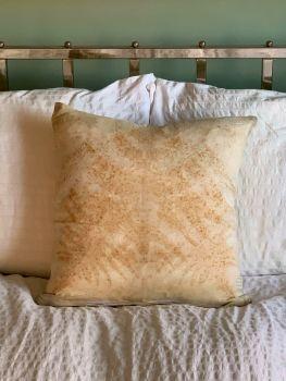 Fern print silk cushion 40cm x 40cm