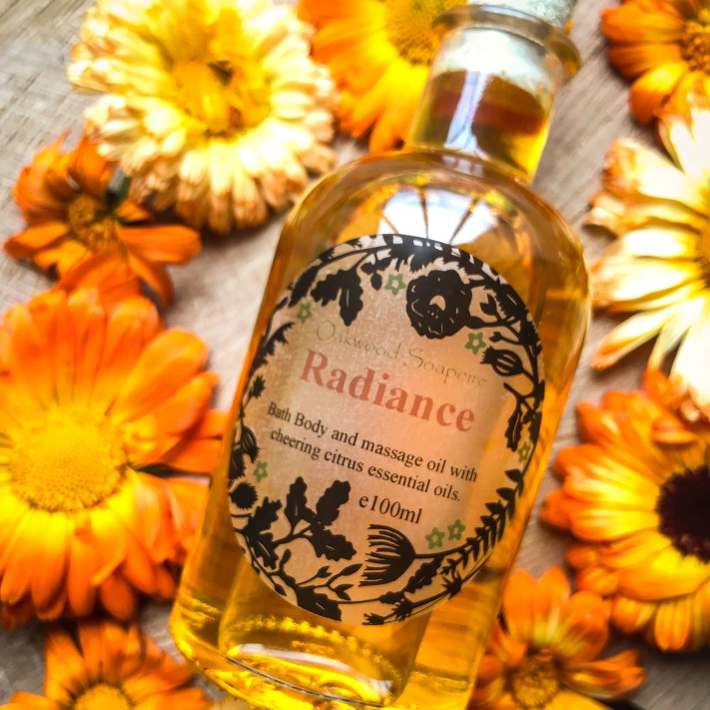 SALE - Radiance Bath & Body Oil with cheering citrus essential oils WAS £12