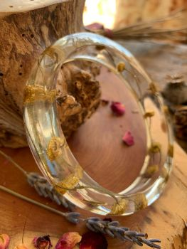 Slim Yarrow flower bangle