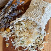 Soap Curls + sisal soap bag
