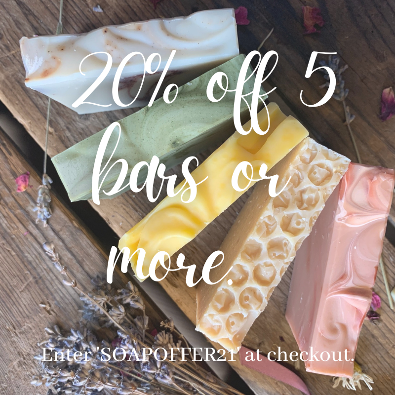 20% off 5 bars or more