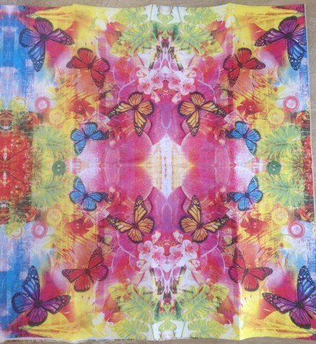 multi bright Butterflies Paper Hankie