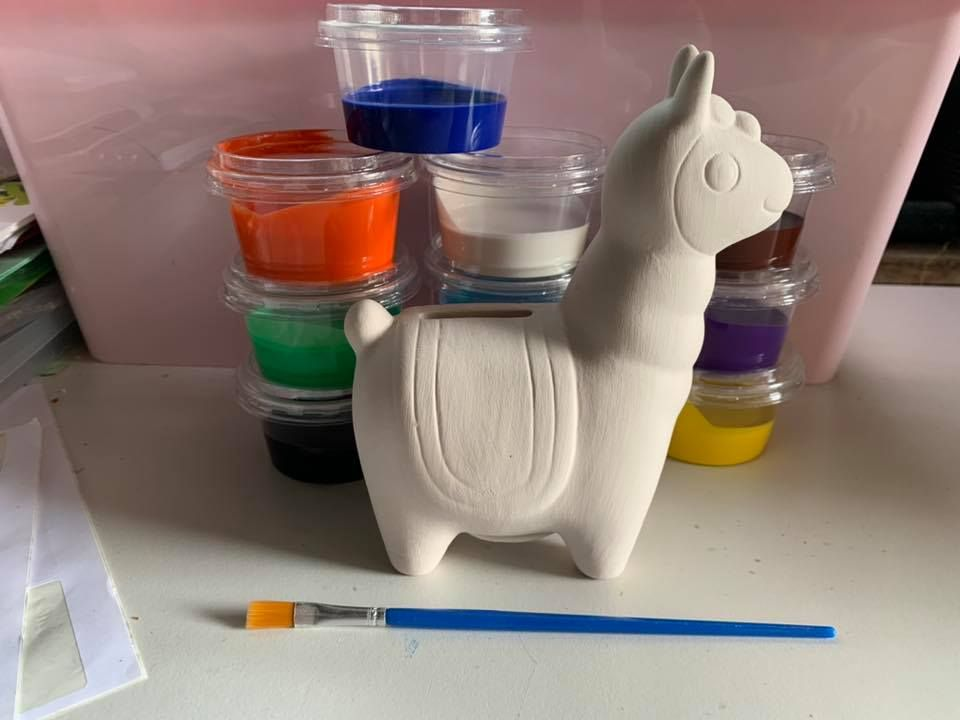Paint Your Own LLama Money box