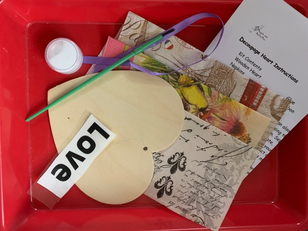 Decoupage Wooden Heart Kit