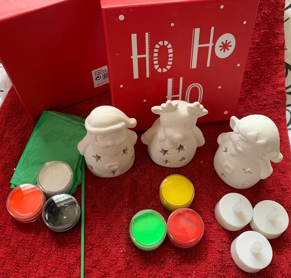 Paint your own Christnas  Tealight
