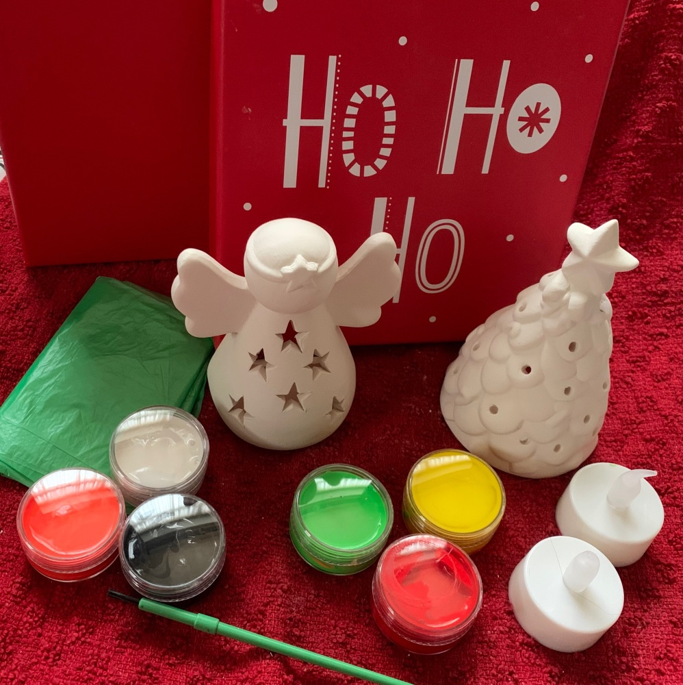 Paint your own Christnas  Tealights x2