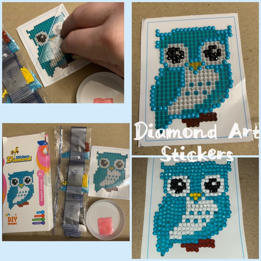 Diamond Art Sticker Kit - Owl