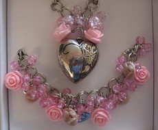 Pink Butterfly Heart Set