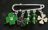 Luck of the Irish Kilt Pin Brooch