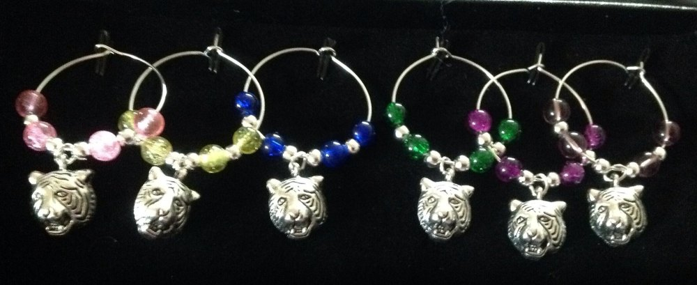 Tiger Wine Glass Charms