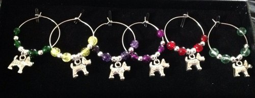Scottie  Wine Glass Charms