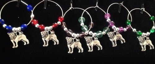 Staffie  Wine Glass Charms