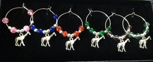 Giraffe Wine Glass Charms