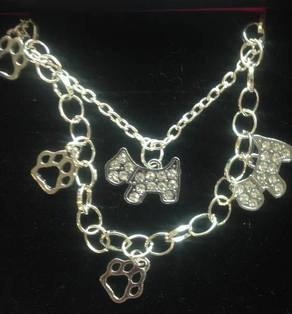 Diamante Scottie Dog Jewellery Set
